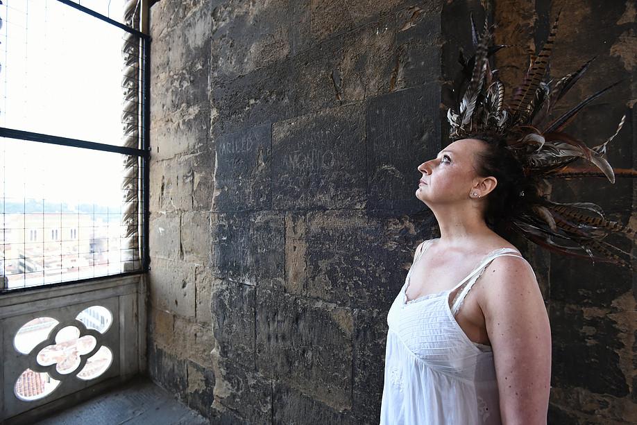 """FIRENZE - ÒPiume/ Dante 2021"""" Campanile di Giotto foto Opera del Duomo Firenze/ Claudio Giovannini"""